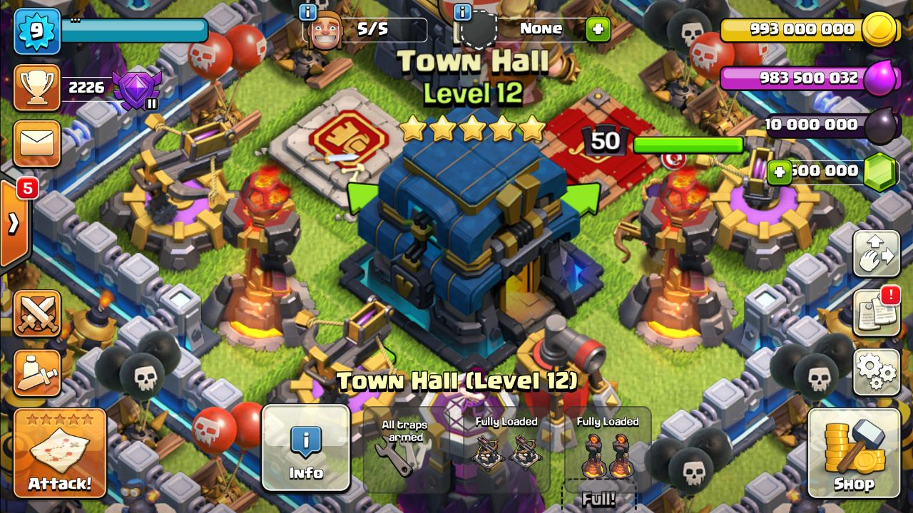 5 levels TH 12 - Null's Clash